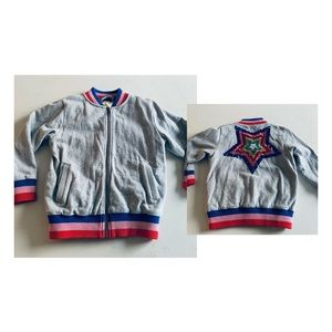 Mini Boden girls spring fall zip jacket  sequins